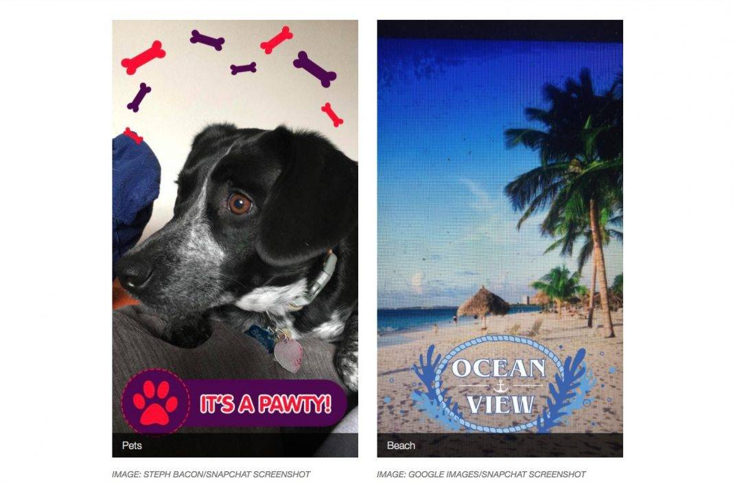 snapchat - تحديث فلاتر سناب شات على أساس الصور / الفيديو