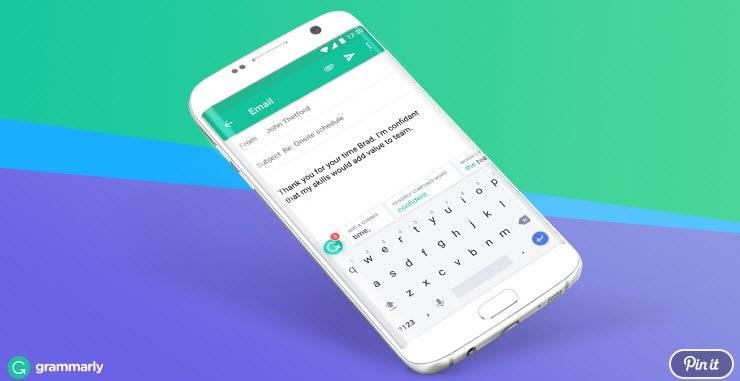 grammarly android keyboard - لوحة مفاتيح جديدة واضافة للمتصفح الكروم تعمل على تصحيح الأخطاء الإملائية تلقائيا