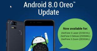 تحديث Android 8.0 Oreo يصل الى ASUS ZenFone 3 Zoom